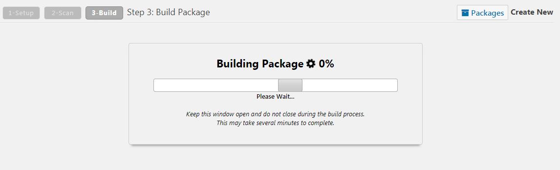 construindo o pacote